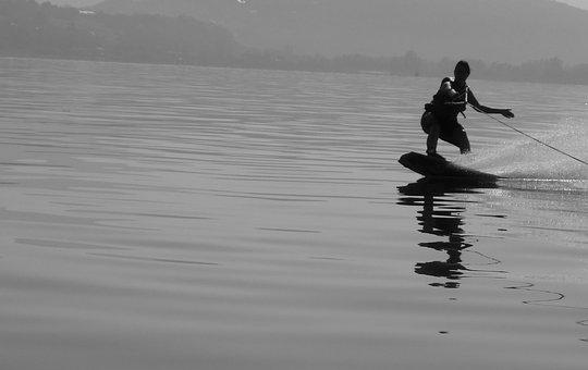 Lake, Water, Navigation, Wakeboarding, Wake, Sport