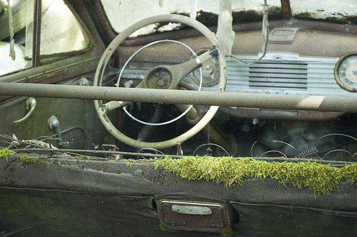 Auto, Car Cemetery, Oldtimer, Rust, Stainless Karre