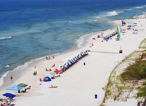 Panama City Beach, Beach, Florida, Ocean, Sand, Shore