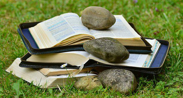 Book, Bible, Pitched, Read, Christian Literature