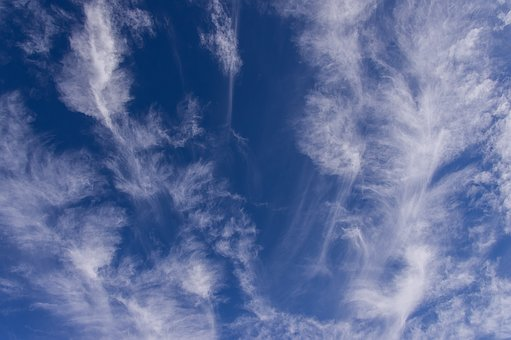 Clouds, White, Blue, Fluffy, Delicate, Pattern, Sky