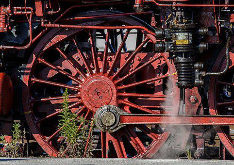 Steam Locomotive, Technology, Detail, Locomotive