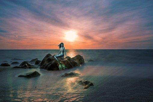 Mermaid, Fairy Tales, Fantasy, Sea, Woman, Mystical