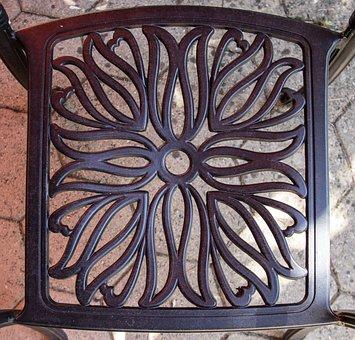 Chair, Seat, Iron, Furniture, Garden, Vintage, Retro