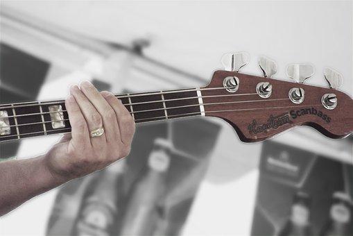Bass, Hand, Music, Instrument, Guitarist, Fingers