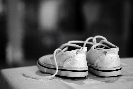 Baby, Child, Shoe, Black And White, Bw, Happy