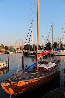 Sailing Boat, Sail, Wood, Wooden Boat, Boot, Ship, Lake
