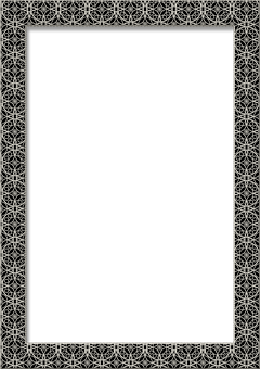 Frame, Photo Frame, Portrait, Glass, Black, Lace