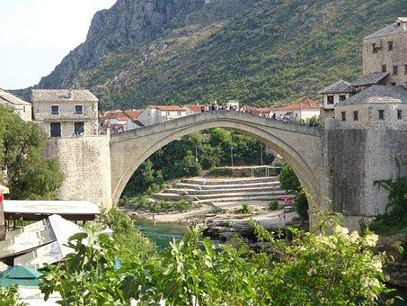 Bridge, Mostar, Old Bridge, Herzegovina, Rebuilt