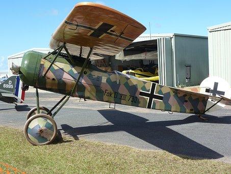 Airplane, Military, Antique, Replica, Ww1, German