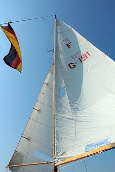 Sail, Sailing Boat, Fock, Jib, Sky, Blue, Clouds, Boot