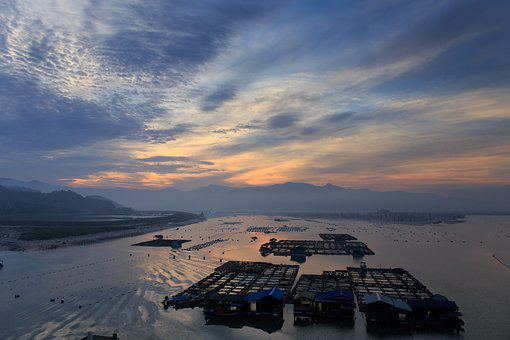 Sunrise, Xiapu, Natural Landscape, Tourism, Silhouette