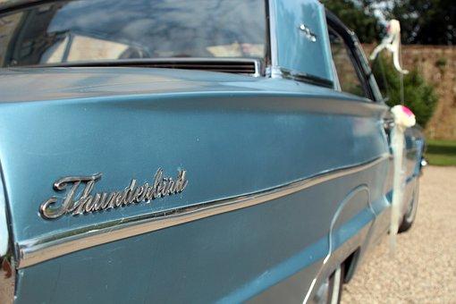 Thunderbird, Oldtimer, Wedding Car, Auto, Ford
