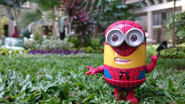 Minion, Spiderman, Toy, Despicable Me, Peter Parker