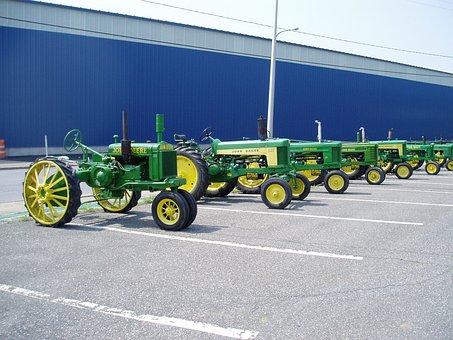 Tractor, John, Deere, Farm, Farming, Antique