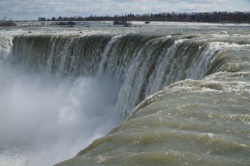 Waterfall, Niagara, Horseshoe Falls, Water, Nature
