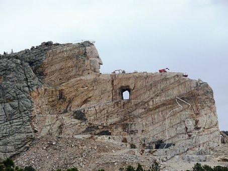 Crazy Horse Memorial, Black Hills, Monument, Indians