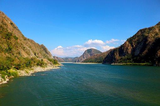 Landscape, Beautiful, Place, Mountain, Water, Sky, Blue