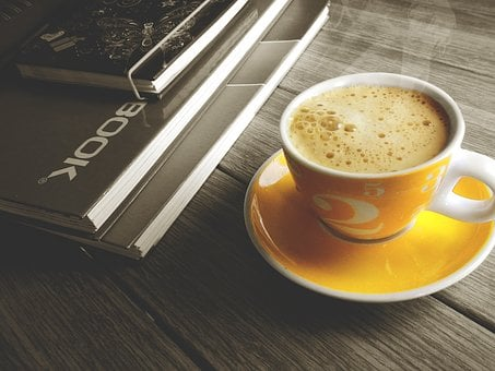 Coffe, Cup, Notebook, Break, Office, Address Book