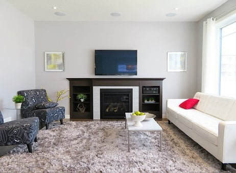 Living Room, Couch, Chairs, Furniture, Tv, Fireplace