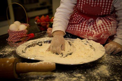 Child, Hands, Kitchen, Daughter, Mass, Wheat
