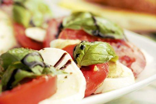 Salad, Tomato Mozzarella, Mozzarella, Eat, Tomatoes
