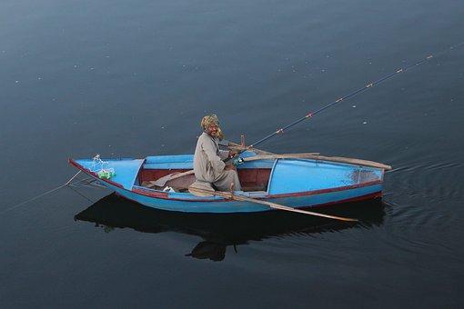 Egypt, Nile, Angler, Boot, Atmospheric, Water, River