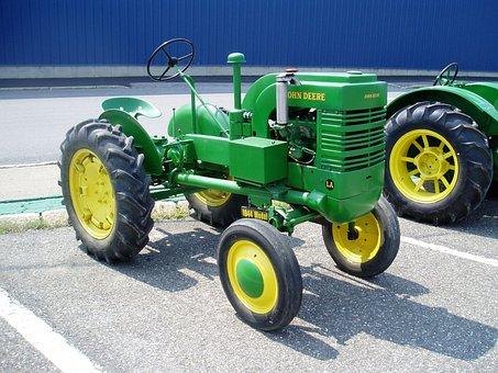 John, Deere, Tractor, Farm, Farming, Antique