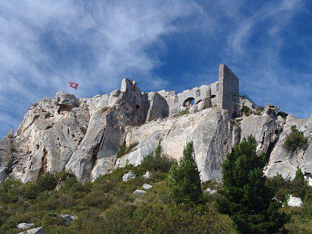 Castle, Mountain, Fortress, Building, Ruin, Middle Ages