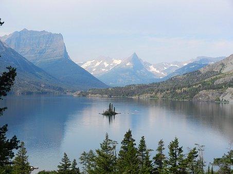 Glacier National Park, Lake, Glacier, National, Park