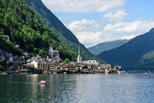 World Heritage, Hallstadt, Lake, Bergsee, Mountains