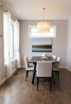 Dining Room, Table, Chairs, Windows, Room, House, Home