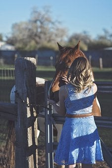 Girl, Horse, Countryside, Rural, Country, Horseback