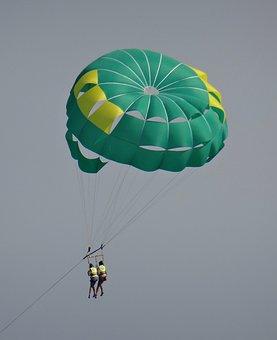 Sport, Parachute, Flight, Summer, Hover, Sky, Skydiving