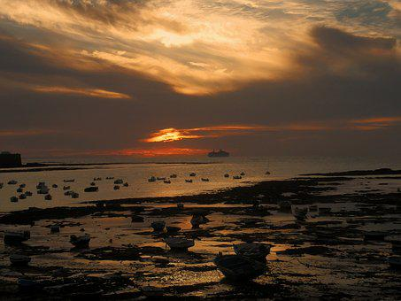 Sunset, Landscape, Sky, Evening Sun, Natural Landscape