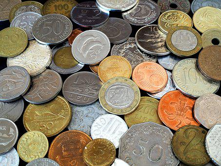 Coins, Parts, Metal, 10, 20, Money, Currency, Finance