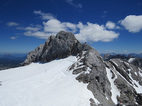 Mountains, Mountaineering, Climb, Snow, Air, Blue