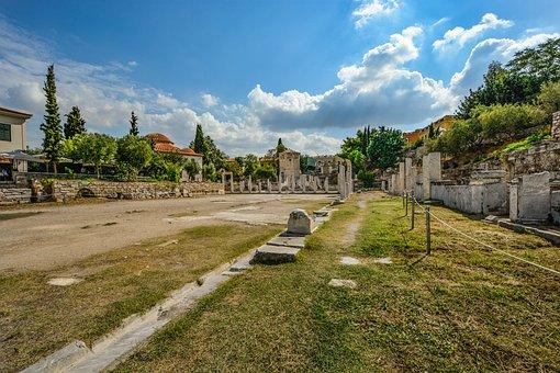 Athens, Agora, Greek, Greece, Outdoor, Ruins, Ancient