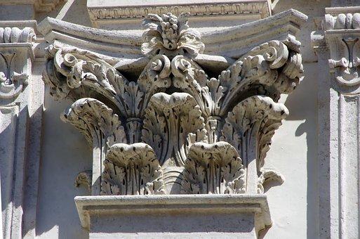 Rome, Pantheon, Marquee, Corinthian, Acanthus