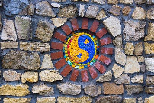Yin Yang, Ornaments, Mosaic, Religion