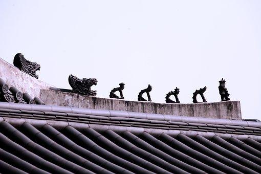 Gyeongbok Palace, Roof, Sculpture, Symbol, Seoul