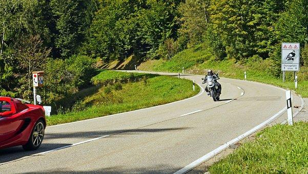 Riding A Motorcycle, Sporty, Schwarzwaldhochstraße