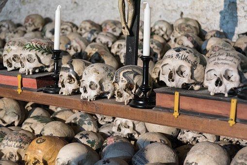 Ossuary, Bone, Skull Bone, Hallstadt, Head, Skull