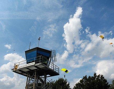 Parachute, Sport, Parachutist, Skydive, Float, Clouds