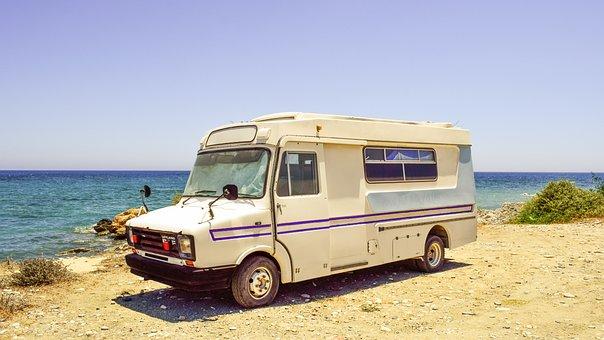 Caravan, Beach, Retro, Vehicle, Old, Aged, Vintage
