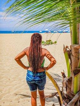 Beach, Girl, Woman, Caribbean, Female, Emotion