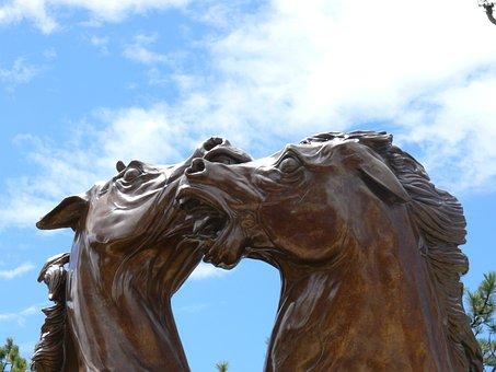 Art, Bronze Statue, Horses, Statue, Work Of Art