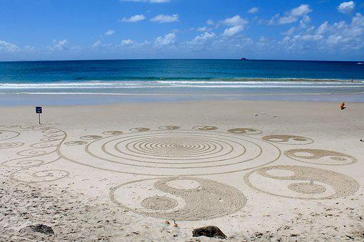 Beach, Hippie, Art, Australia, Ying And The Yang
