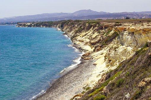 Coastline, Coast, Rocky, Pebble Beach, Cliff, Sea