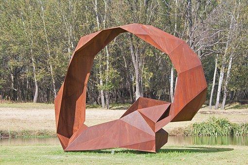 Sculpture, Modern, Detail, Structure, Metal, Ornate
